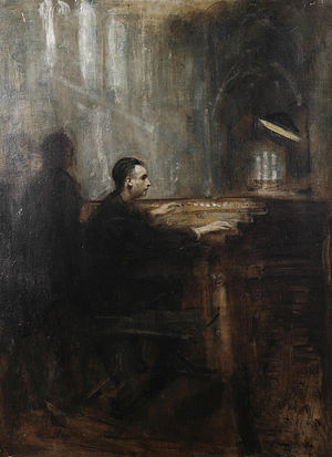 Marcel Dupré - Marcel Dupré at the organ of Notre-Dame, by Ambrose McEvoy.
