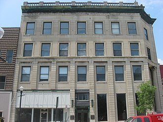 Downtown Evansville - Image: American Trust and Savings Bank in Evansville