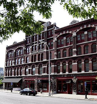 National Register of Historic Places listings in Syracuse, New York - Image: Amos Block