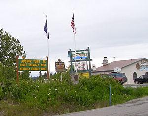Blue Star Memorial Highway - Marker in Anchor Point, Alaska