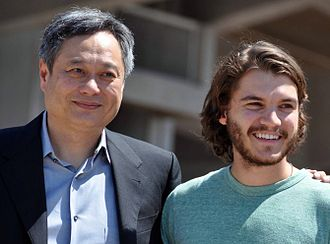 Taking Woodstock - Director Ang Lee and actor Emile Hirsch promoting the film at the 2009 Cannes Film Festival.