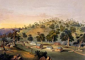 Angaston, South Australia - Angaston painted by George French Angas in the 1840s