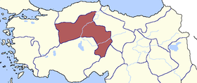 Location of Ankara Eyaleti