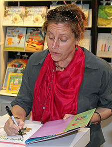 Dewdney at a book signing in 2014.
