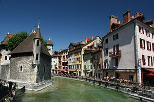 Annecy - The Palais de l'Isle and Thiou river