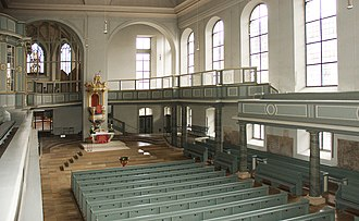 Bachwoche Ansbach - St. Gumbertus, interior