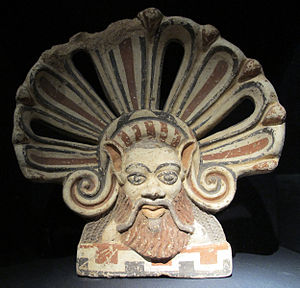 Falerii - Terracotta antefix from Falerii Veteres, 5th century BC