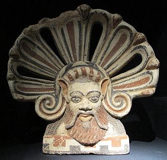 Falerii - Terracotta antefix from Falerii Veteres, 5th century BC