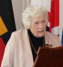 Anthea Bell gives a speech on receiving Cross of the Order of Merit of the Federal Republic of Germany