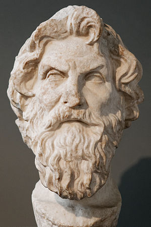 Antisthenes - Marble bust of Antisthenes based on the same original (British Museum)