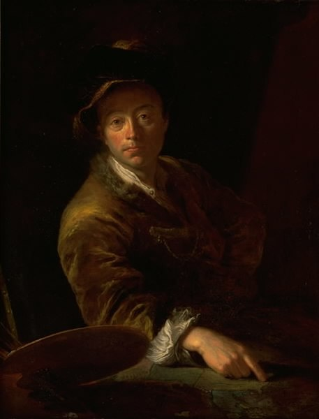 File:Antoine Pesne - Portrait of a Painter (presumably C. L. Agricola, 1667-1719) - KMSsp776 - Statens Museum for Kunst.jpg