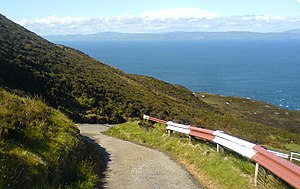 Mull of Kintyre - Mull of Kintyre in foreground, Northern Ireland in distance