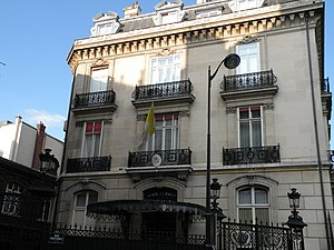 Apostolic Nuncio to France - Façade of the Apostolic Nunciature to the French Republic