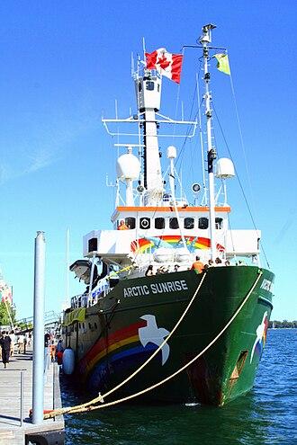 MV Arctic Sunrise - Image: Arcticsunrisedocked