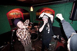 Finnish hip hop - Image: Are ja Stepa Raahessa 05 03 2011