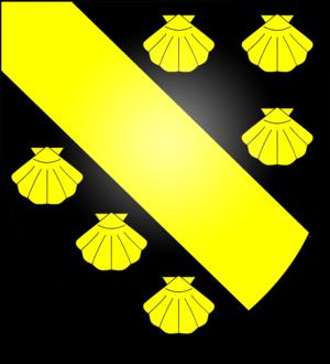 Sable (heraldry) - Image: Arms of the Foljambe family of Walton
