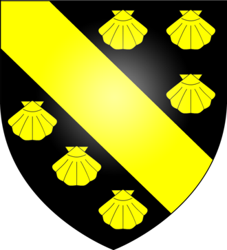 Sable (heraldry) - Image: Arms of the Foljambe family of Walton