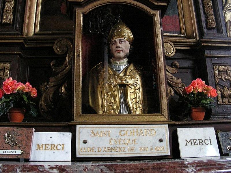 Église Saint-Martin d'Arnèke, buste-reliquaire de St Ghoaert.