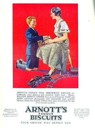 Arnott's Biscuits - 1932 advertisement for Arnott's Biscuits
