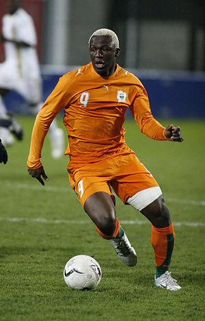 Arouna Koné - Koné playing for Côte d'Ivoire in 2007.