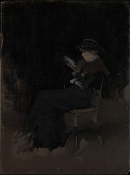 James Abbott McNeill Whistler: Arrangement in Black: Girl Reading