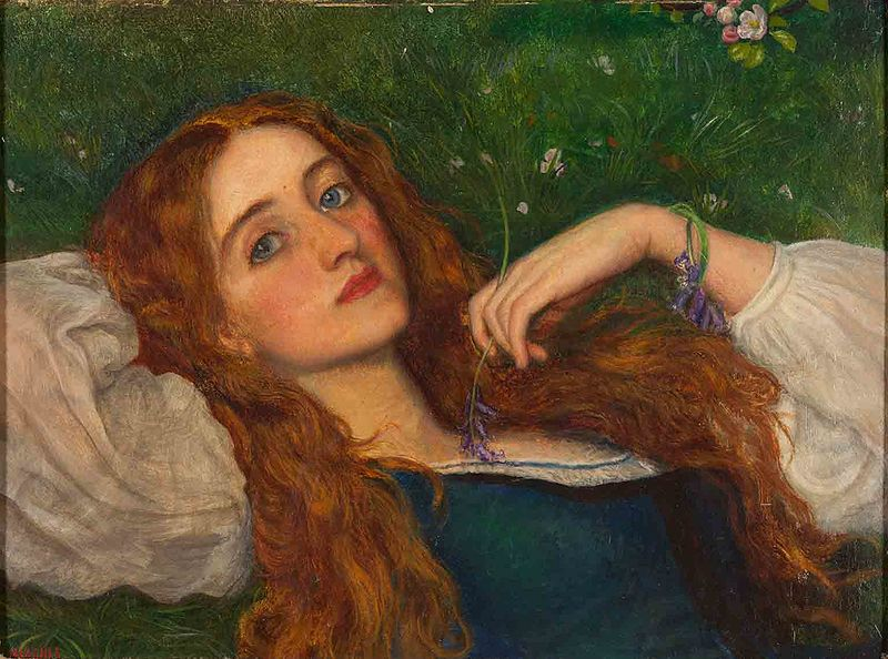 File:Arthur Hughes - In the Grass.jpg
