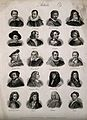 Artists; twenty portraits of famous men. Engraving by J.W. C Wellcome V0006812.jpg