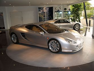 Ascari Cars - An Ascari KZ1 (foreground) and Ecosse on display.