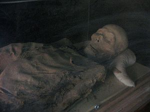 Astana Cemetery - A mummy from a tomb at the Astana Graves