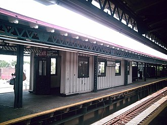 Astoria Boulevard (BMT Astoria Line) - Staircase shelter on southbound platform