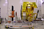 Astrosat-1 prelaunch preparation in cleanroom 05.jpg
