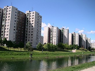 Panelák - Petržalka, Bratislava, Slovakia.