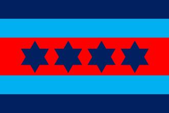 Air chief marshal (Australia) - An air chief marshal's officer distinguishing flag