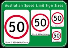 Open speed limit australia