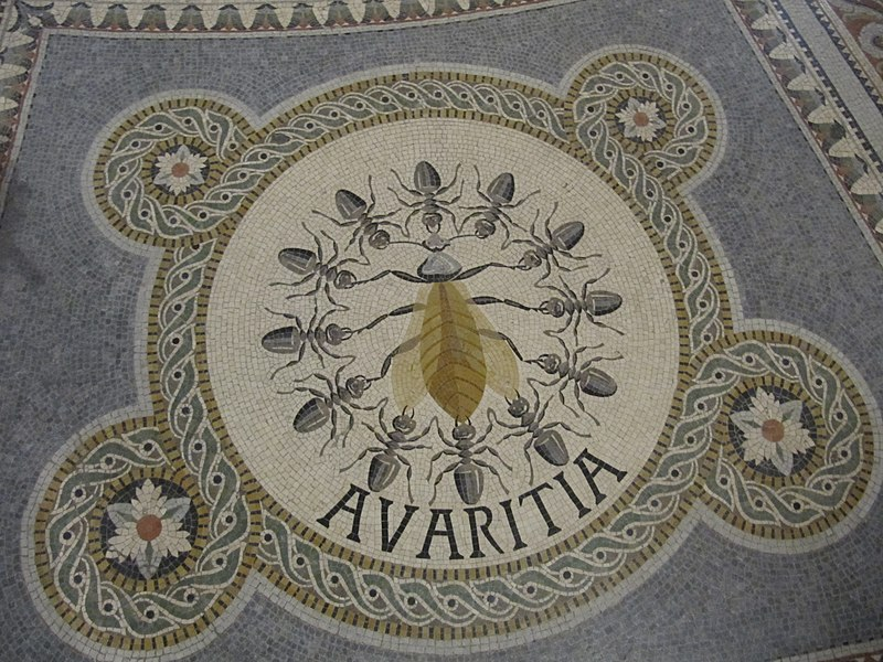 https://upload.wikimedia.org/wikipedia/commons/thumb/5/5a/Avaritia_%28mosaic%2C_Basilique_Notre-Dame_de_Fourvi%C3%A8re%29.jpg/800px-Avaritia_%28mosaic%2C_Basilique_Notre-Dame_de_Fourvi%C3%A8re%29.jpg