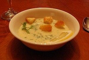 Avgolemono - Image: Avgolemono soup