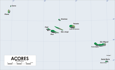 Map of Azores