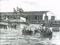 B&W. Søsætning af dampskibet Christian 9, 1874.png