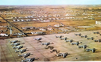 Nevada Test and Training Range (military unit) - B-47s on the Ramp at Lincoln AFB