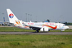 B-5822 - China Eastern Airlines - Boeing 737-79P(WL) - Orange Peacock Livery - CAN (14740676807).jpg