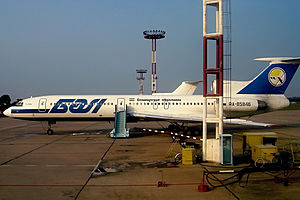 Anapa Airport - BAL Bashkirian Airlines Tupolev Tu-154M parked at Anapa Airport.