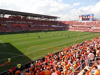 MLS Cup 2012 - Houston's home stadium, BBVA Compass Stadium. During the playoffs, Houston went undefeated here and only conceded one goal.