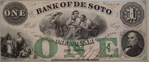 History of central banking in the United States - Privately issued note, 1863