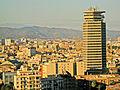 Barcelona des de Miramar, torre Colón.jpg