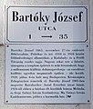 Bartóky József Street, street name sign and plaque, 2020 Zebegény.jpg