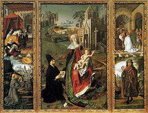 Bartolomé Bermejo - Bartolomé Bermejo and Rodrigo de Osona – Triptych of the Virgin of Montserrat – WGA01962