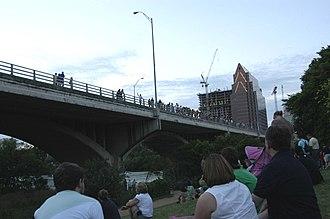 Ann W. Richards Congress Avenue Bridge - Tourists waiting for the bats.