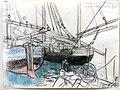 Bateaux de pêche réfugiés a St-Servan 1916.jpg