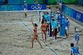 Beach volley at the Beijing Olympics - China v. USA.jpg
