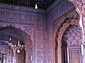Beautiful ceiling, arches and walls of Badshahi Mosque.jpg